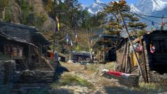 Обои Far Cry 4, Game, Тибет, Игра, Деревня, Поселение, Горы