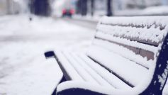 Обои зима, скамья, Скамейка, снег, улица